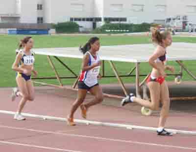 Sharazed, que ha aconseguit ser Campiona de Balears Juvenil de 1500  i 3000 m